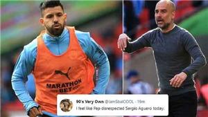 CĐV Man City tố HLV Pep Guardiola đã thiếu tôn trọng với Aguero