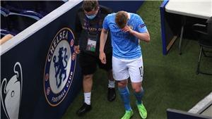De Bruyne mắt tím bầm, khóc nức nở khi bị thay ra ở Chung kết C1