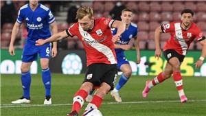 Leicester mất điểm dù đá hơn người, MU yên tâm ở vị trí thứ 2