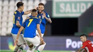 Paraguay 0-2 Brazil: Neymar tỏa sáng, Brazil thắng trận thứ 6 liên tiếp