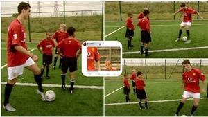 18 năm trước, Ronaldo dạy Lingard đá bóng và bây giờ là đồng đội của nhau