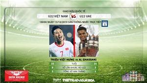 Xem trực tiếp bóng đá: U22 VN vs U22 UAE. VTC1, VTC3, VTV6