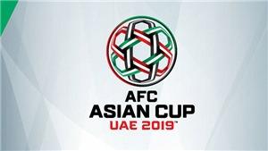 Bảng xếp hạng Asian Cup 2019 hôm nay ngày 16/1. BXH các đội đứng thứ 3 mới nhất
