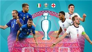 [CẬP NHẬT] VTV3 Trực tiếp bóng đá Ý vs Anh, chung kết EURO 2021