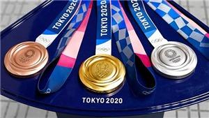 Bảng tổng sắp huy chương Olympic Tokyo 2021 mới nhất hôm nay