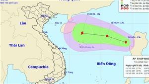 Biển Đông lại xuất hiện áp thấp nhiệt đới, các tỉnh Trung Trung Bộ có mưa to đến rất to