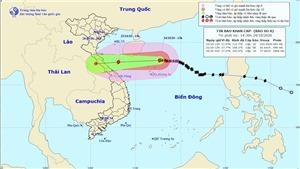 Áp thấp nhiệt đới gây mưa to từ Nghệ An đến Thừa Thiên - Huế, bão số 9 tiếp tục mạnh thêm