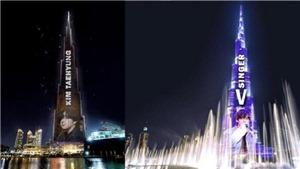 Mừng sinh nhật V BTS, ARMY thắp sáng tòa nhà cao nhất thế giới tại Dubai