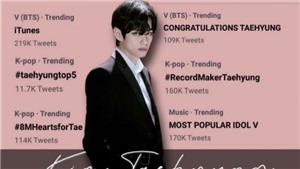 V BTS đứng top trending sau loạt kỷ lục mới