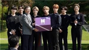 BTS nhận chứng chỉ bổ nhiệm Đặc phái viên của Tổng thống tại Nhà Xanh