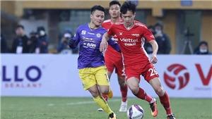 Bóng đá Việt Nam hôm nay:Hà Tĩnh vs Bình Định (18h00). Viettel vs Hà Nội (19h00)