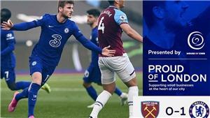 West Ham 0-1 Chelsea: Werner giải cơn khát bàn thắng, Chelsea giành 3 điểm trên sân khách