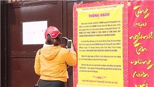 Lễ cầu an đầu năm được thực hiện trực tuyến ở chùa Phúc Khánh