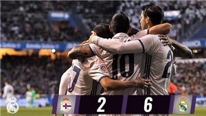 Deportivo 2-6 Real Madrid: Không BBC, Real vẫn thừa sức thắng kiểu tennis bằng đội hình B