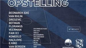 Twente 2-3 Heerenveen: Heerenveen thủ kém, Văn Hậu vẫn dự bị cả trận