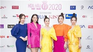 Hoa hậu Tiểu Vy, Mỹ Linh, Thuỳ Linh gây ấn tượng với phong cách color block
