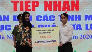 Hà Nội tiếp nhận hơn 22 tỷ đồng và hàng hóaủng hộ miền Trung