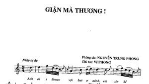 Trả lại tên tác giả cho tuyệt phẩm âm nhạc 'Giận mà thương'
