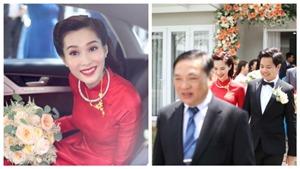 Hình ảnh mới nhất Hoa hậu Đặng Thu Thảo ngập tràn hạnh phúc trong lễ rước dâu