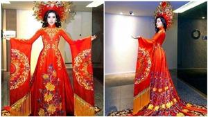 Trang phục dân tộc của Á hậu Huyền My ở Hoa hậu Hòa bình Thế giới gây tranh cãi