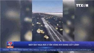 VIDEO: Máy bay Nga rơi 3 tấn vàng khi đang cất cánh