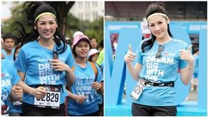 Á hậu Tú Anh chinh phục quãng đua marathon 5km chỉ với 36 phút
