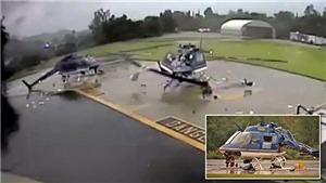 VIDEO: Kinh hoàng cảnh 2 trực thăng 'chém nhau' nát bươm bằng cánh quạt vì khoảng cách đỗ quá gần