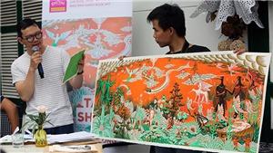 Xem những bản vẽ gốc 'Dế Mèn phiêu lưu ký', Nguyễn Trãi và Nguyễn Thị Lộ của Tạ Huy Long