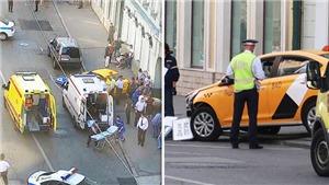 Taxi lao vào đám đông dự World Cup, 8 người bị thương