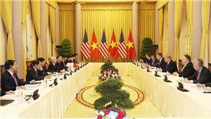 Tổng Bí thư, Chủ tịch nước Nguyễn Phú Trọng hội đàm với Tổng thống Hoa Kỳ Donald Trump