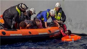 Giải cứu hơn 250 người tìm cách vượt biển Địa Trung Hải để đến châu Âu