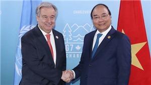 Hình ảnh Thủ tướng Nguyễn Xuân Phúc gặp gỡ các lãnh đạo thế giới