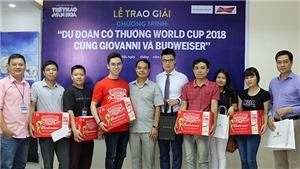 Tưng bừng trao giải thưởng 'Dự đoán vòng bảng World Cup 2018'