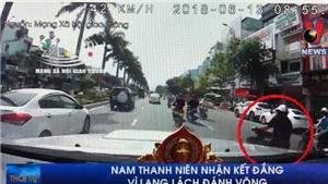 VIDEO: Nam thanh niên nhận kết đắng vì lạng lách đánh võng trên đường