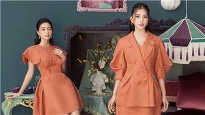 Hoa hậu Tiểu Vy, Lương Thuỳ Linh đẹp dịu dàng trong trang phục của NTK Nguyễn Quảng