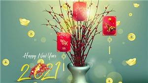 Thiệp chúc mừng năm mới đẹp và ý nghĩa Tết Tân Sửu 2021