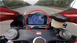 Xử lý nghiêm lái xe máy chạy tốc độ gần 300km/h trên Đại lộ Thăng Long