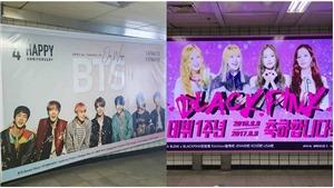 Quảng cáo tại các ga tàu điện: BTS dẫn đầu nhóm nam, Blackpink và Twice thua cả đàn em