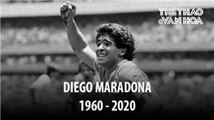 Huyền thoại Diego Maradona qua đời ở tuổi 60