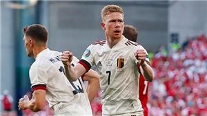 Đan Mạch 1-2 Bỉ: De Bruyne tỏa sáng giúp Bỉ ngược dòng kịch tính trước Đan Mạch
