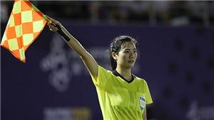 Trọng tài Trung Quốc gây sốt ở SEA Games vì quá xinh đẹp
