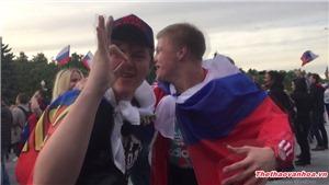 Video ĐẶC BIỆT: Khoảnh khắc vỡ òa của CĐV Nga trước siêu phẩm của đội nhà