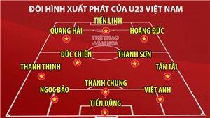 Đội hình U23 Việt Nam đấu Jordan: Đức Chinh, Đình Trọng dự bị. Bất ngờ Thanh Sơn