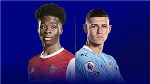 Trực tiếp Arsenal vs Man City. K+, K+PM trực tiếp Ngoại hạng Anh hôm nay
