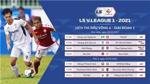 Lịch thi đấu LS V-League 2021:HAGL vs TPHCM. VTV6, BĐTVtrực tiếp bóng đá Việt Nam