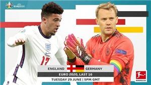 Kết quảbóng đá EURO 2021 vòng 1/8:Anh vs Đức, Thụy Điển vs Ukraina