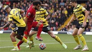 Salah 'nhảy múa' giữa các hậu vệ Watford trước khi ghi bàn đẳng cấp