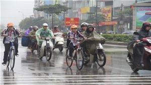 Không khí lạnh gây mưa vừa, mưa to và dông ở các tỉnh Bắc và Trung Trung Bộ