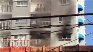 VIDEO: Cháy căn hộ chung cư Ihome ở quận Gò Vấp, cư dân tháo chạy