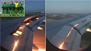 Máy bay chở tuyển Saudi Arabia đâm phải chim, bốc cháy trên không